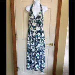 💙 Butterfly Halter Maxi Dress 💙